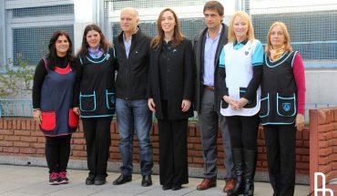 23-05-16 Vidal y Grindetti visitaron la Escuela Nº 18 de Lanús 01